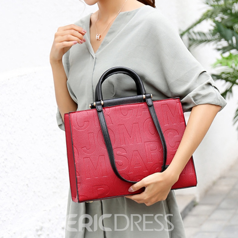 Ericdress Thread Letter Tote Bags