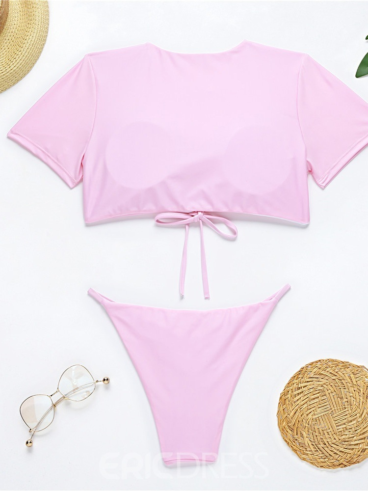 Ericdress Tankini Set Fashion Plain Slim Swimwear