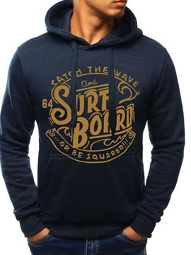 Ericdress Pullover Letter Print Pullover Fall Hoodies