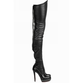 Ericdress Back Zip Plain Stiletto Heel PU Boots