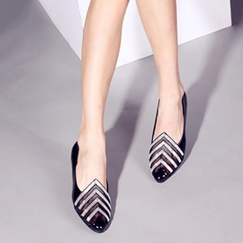 Ericdress Round Toe See-Through Slip-On Low-Cut Upper Thin Shoes