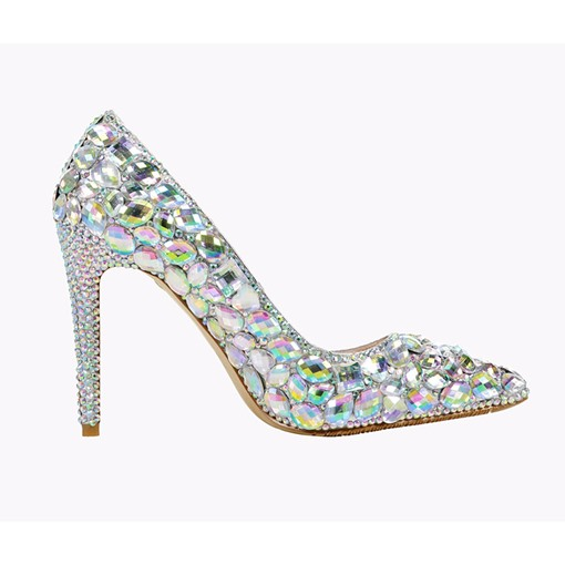 Ericdress Rhinestone Slip-On Pointed Toe Low-Cut Upper Thin Shoes
