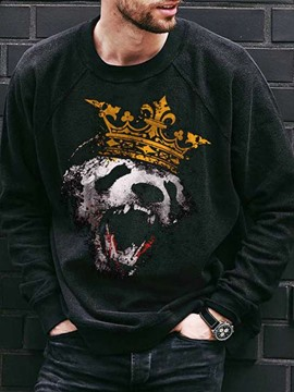 Ericdress Print Pullover Animal Round Neck Pullover Hoodies
