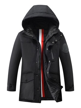 Ericdress Pocket Hooded Standard Zipper Korean Down Jacket
