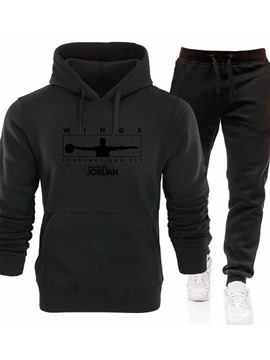 Ericdress Men's Coat Hoodie Print Letter Winter Outfit