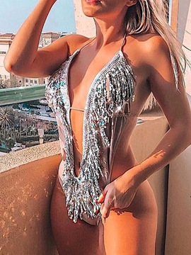 Ericdress Sequins Sexy One Piece Women's Swimwear