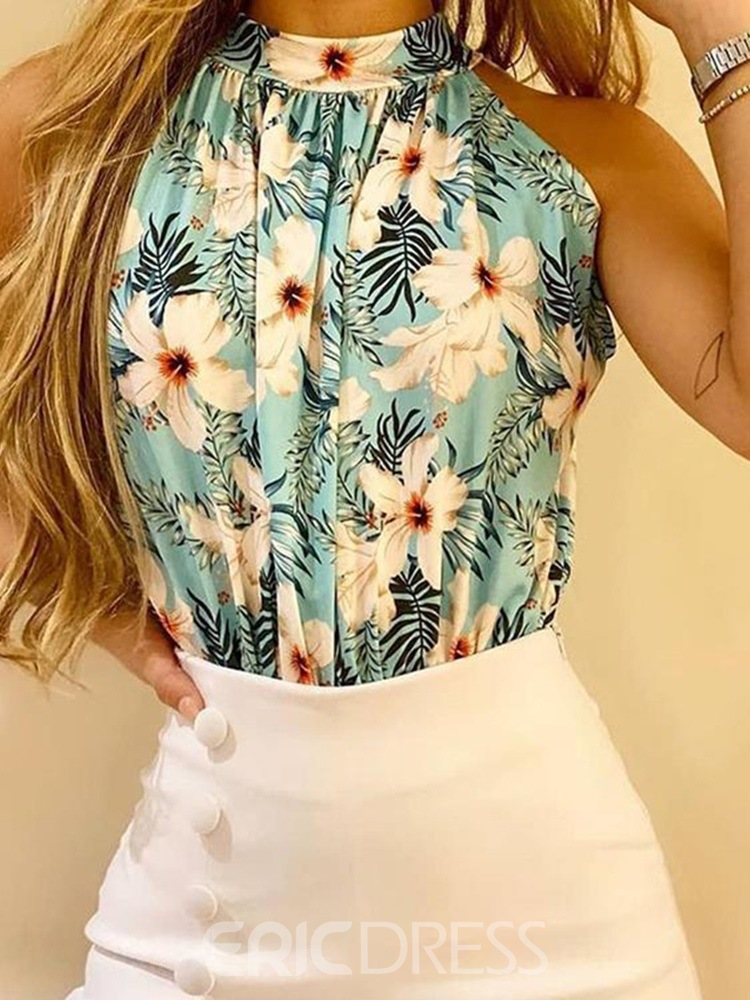Ericdress Sweet Shorts Print Culottes Pullover Two Piece Sets