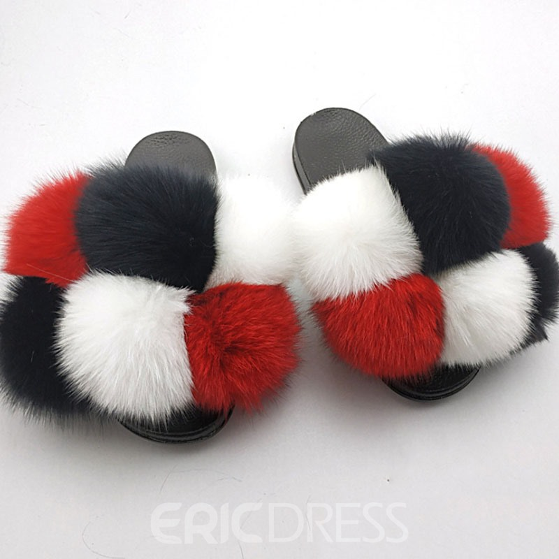 Ericdress Flat With Slip-On Flip Flop Winter Slippers