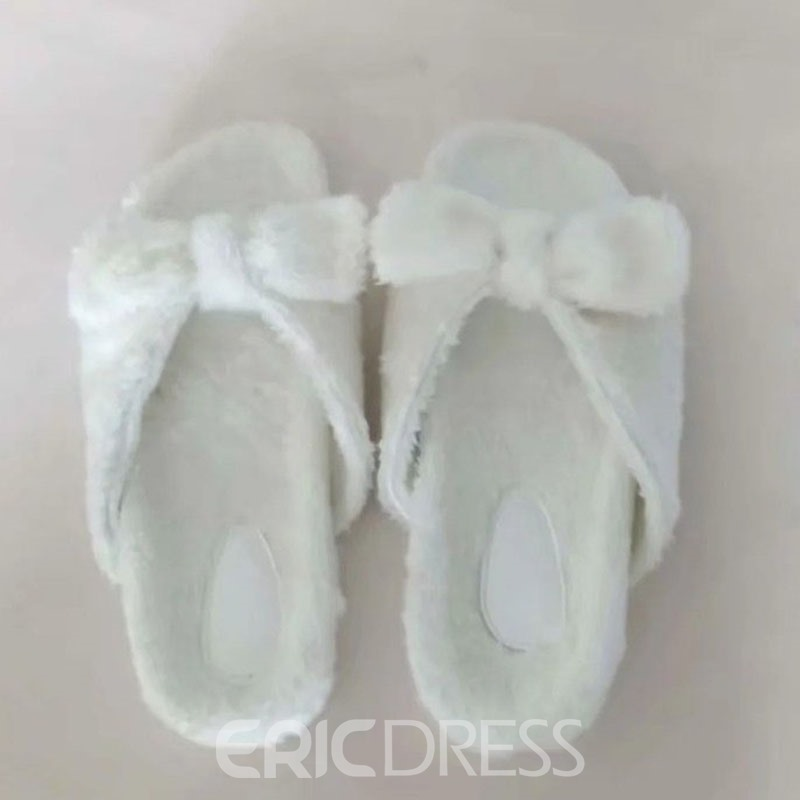 Ericdress Slip-On Flat With Bow Fall Slippers