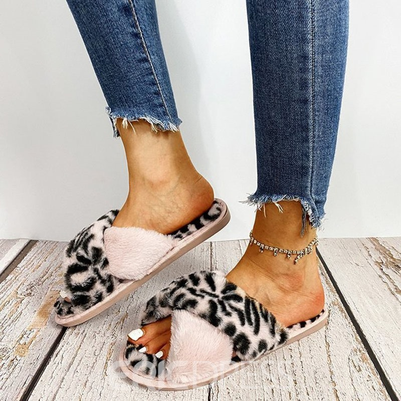 Ericdress Slip-On Cross Flat With Casual Slippers