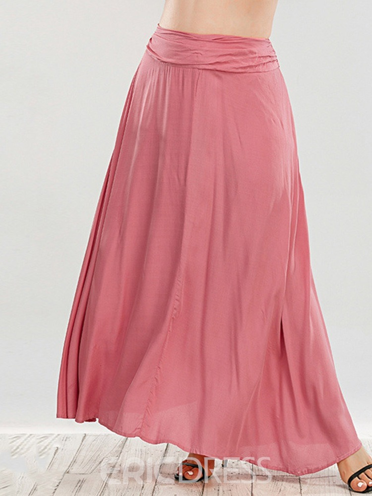 Ericdress Plain A-Line Ankle-Length Sweet Skirt