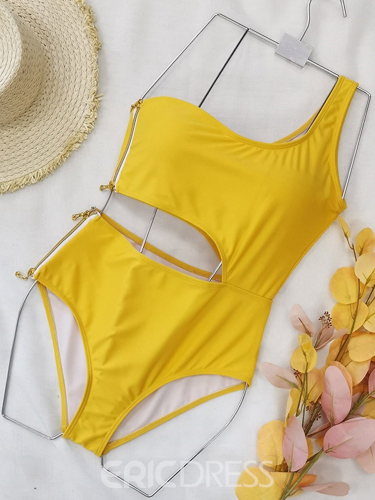 Ericdress Plain One Piece Fashion Swimwear
