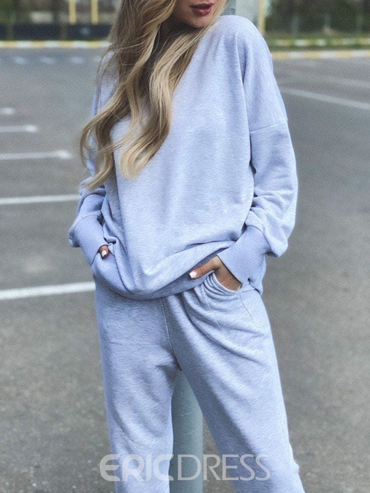 Ericdress Solid Breathable Polyester Ankle Length Pullover Clothing Sets