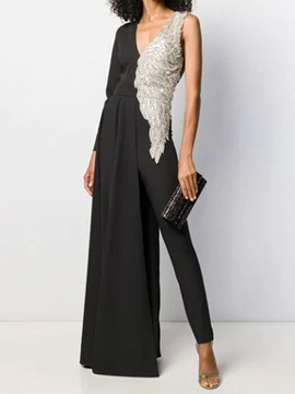 Ericdress Ankle Length Fashion Sequins Pencil Pants Skinny Jumpsuit