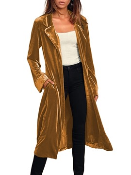 Ericdress Long Lapel Belt Western Regular Trench Coat