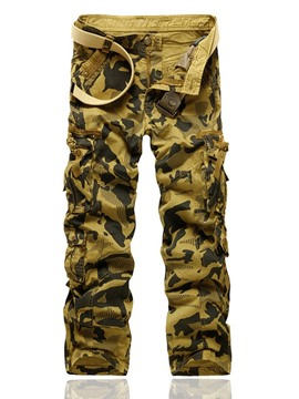 Ericdress Print Camouflage Straight Zipper Men's Casual Pants