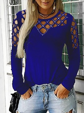 Ericdress Long Sleeve Round Neck Standard Casual Loose T-Shirt