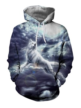 Ericdress Pullover Print Animal Spring Pullover Hoodies