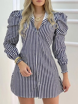 Ericdress Above Knee Lapel Nine Points Sleeve A-Line Date Night/Going Out Dress