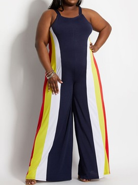 Ericdress Western Zipper Full Length Straight Loose Jumpsuit