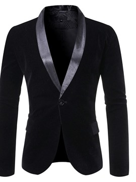 Ericdress Color Block Slim Patchwork Men's Leisure Blazer