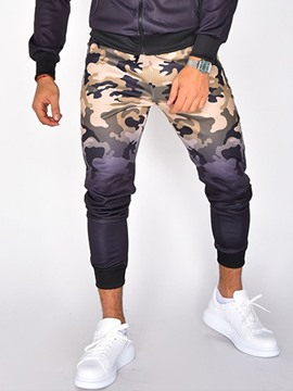 Ericdress Patchwork Camouflage Thick Fall Casual Men's Pants