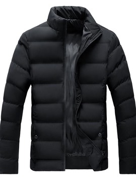 Ericdress Standard Stand Collar Plain Zipper Men's Down Jacket