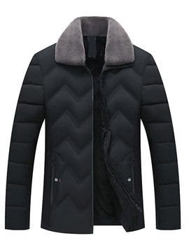 Ericdress Plain Lapel Zipper Men's Down Jacket