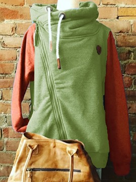 Ericdress Color Block Patchwork Regular Standard Hoodie