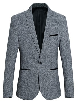 Ericdress One Button Patchwork Notched Lapel Men's Leisure Blazer