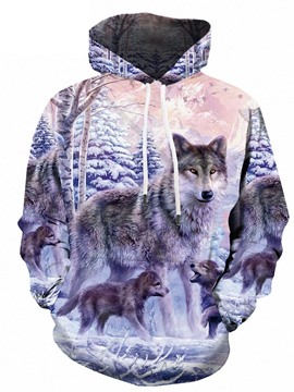Ericdress Print Animal Pullover Men's Loose Hoodies