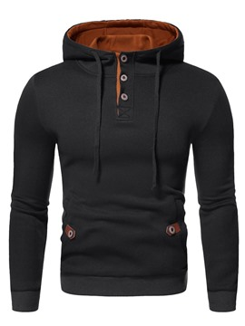 Ericdress Color Block Pullover Patchwork European Men's Hoodies