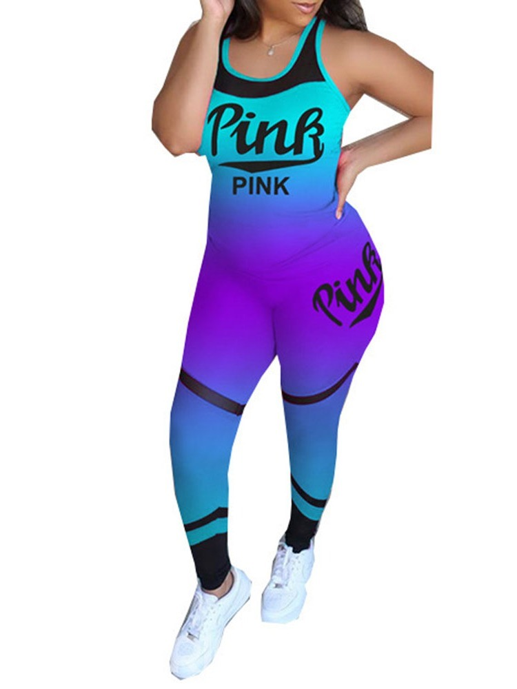 Ericdress Print Anti-Sweat Gradient Polyester Pullover Tennis Clothing Sets