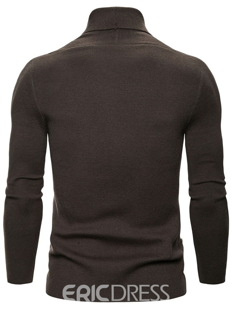 Ericdress Plain Lapel Standard Slim Wrapped Sweater