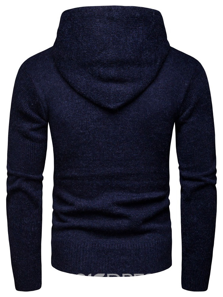 Ericdress Pullover Pocket Casual Men's Slim Hoodies