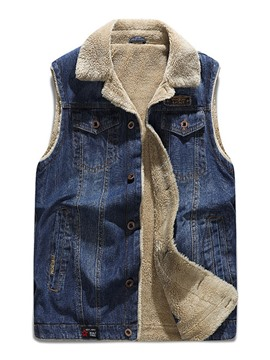 Ericdress Worn Lapel Thick Single-Breasted Men's Waistcoat