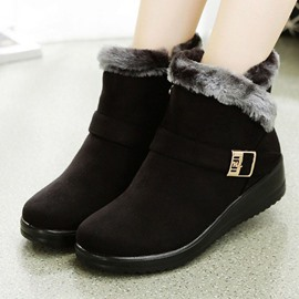Ericdress Slip-On Patchwork Round Toe Casual Boots