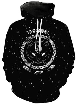 Ericdress Print Pullover Animal Men's Hoodies
