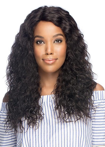 Ericdress Natural Women's Long Length Layers Curls Human Hair Wigs Lace Front Wig 22Inch