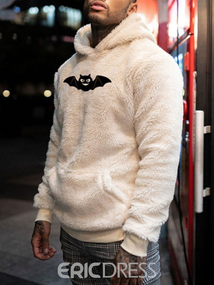 Ericdress Thick Pullover Animal European Loose Men's Hoodies