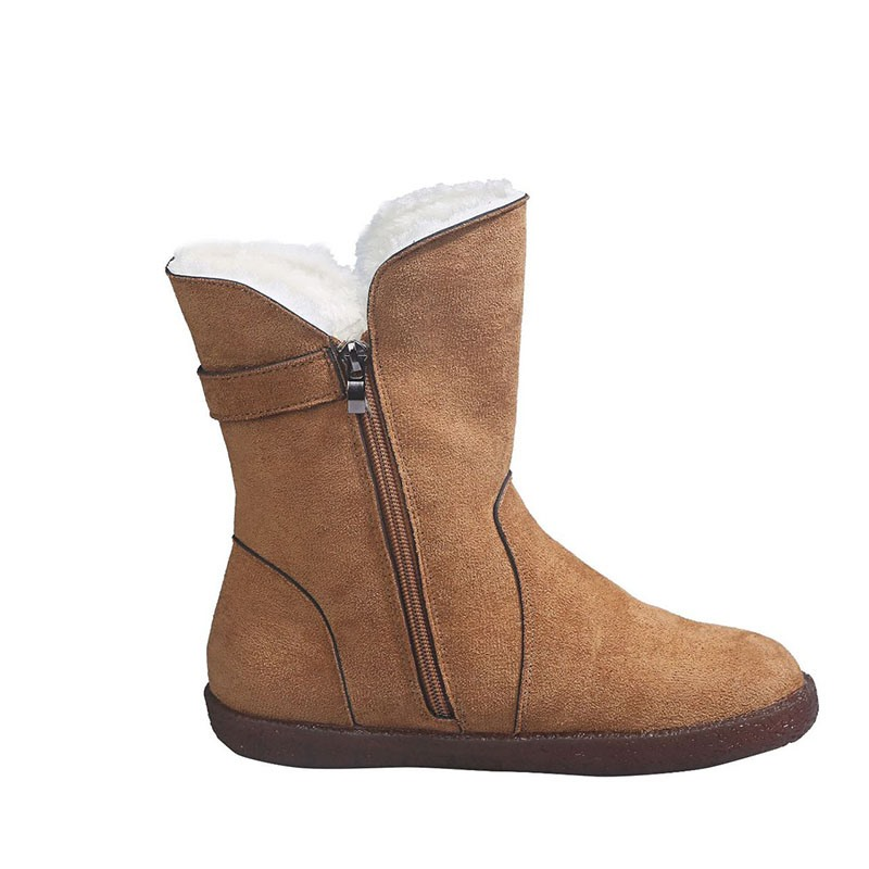 Ericdress Plain Flat With Round Toe Thread Boots