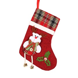 Ericdress Color Block Christmas Socks Decoration Supplies