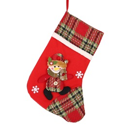 Ericdress Socks Slim Color Block Christmas Decoration Supplies