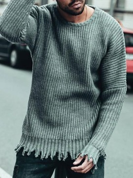 Ericdress Tassel Round Neck Standard Casual Men's Fall Sweater