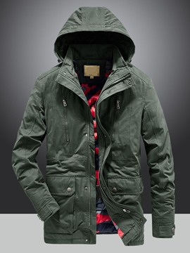 Ericdress Stand Collar Pocket Standard Zipper Casual Down Jacket