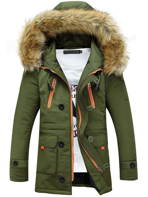 Ericdress Patchwork Standard Color Block Zipper European Down Jacket