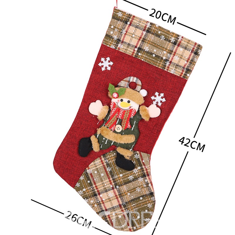 Ericdress Socks Color Block Christmas Decoration Slim Supplies