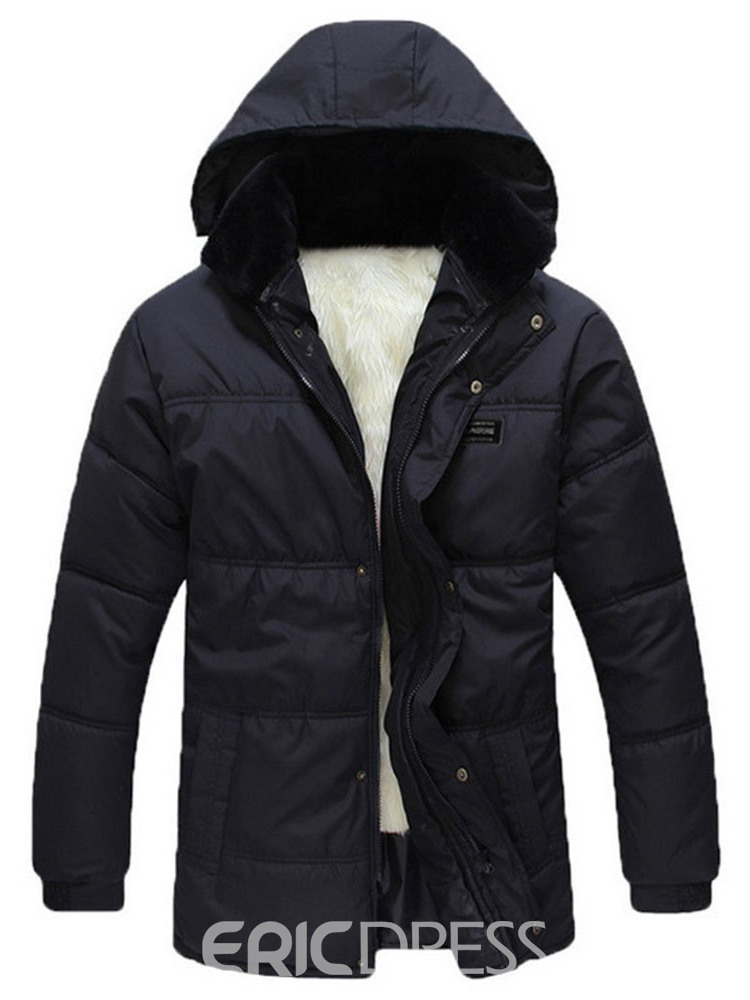 Ericdress Hooded Standard Plain Casual Single-Breasted Down Jacket
