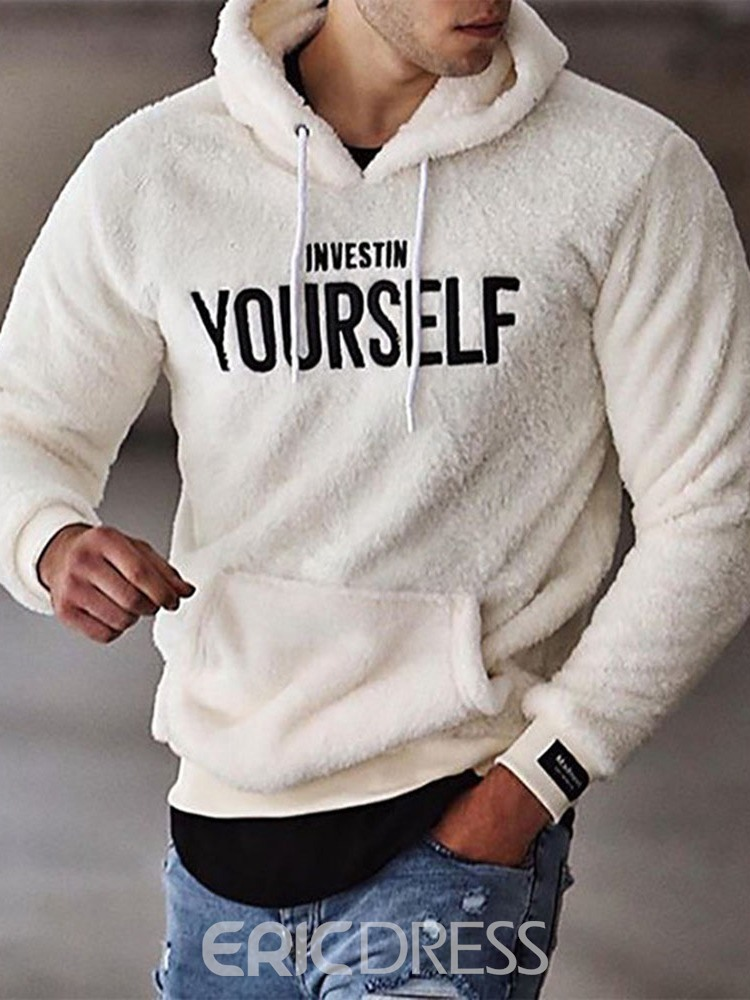 Ericdress Thick Letter Pullover Hooded Pullover Hoodies