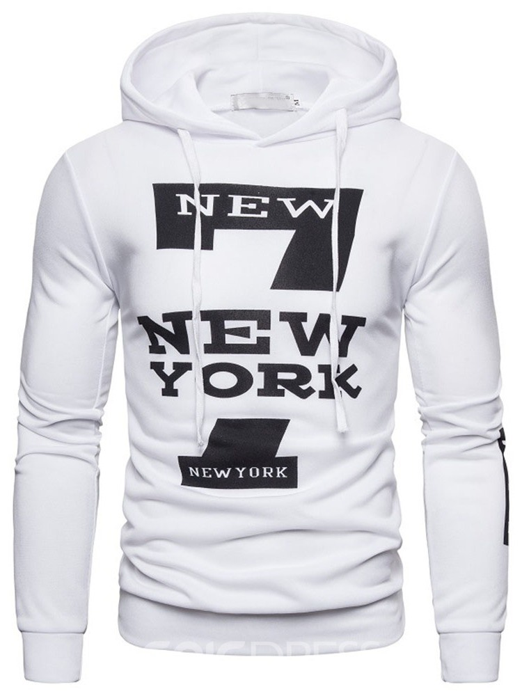 Ericdress Pullover Print Letter Casual Pullover Hoodies